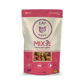 Petisco-luopet-mix-3em1-sabor-carne-frango-e-peixe-40g