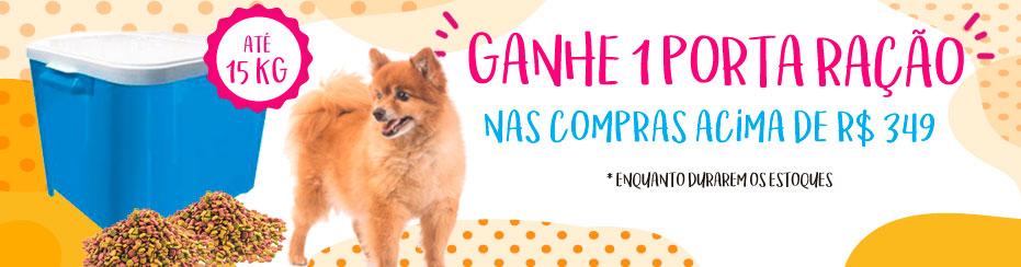 BANNER PORTA RAÇÃO NAS COMPRAS ACIMA DE 349,00