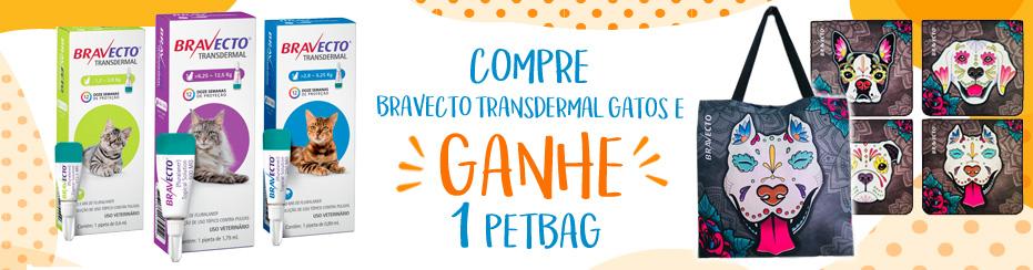 GANHE BRAVECTO TRANSDERMAL E GANHE 1 BAG