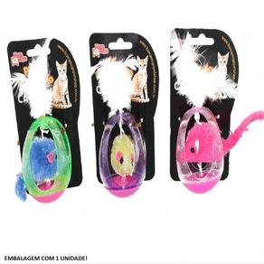 Brinquedo Cat Ratinho Gaiola Bom Amigo - Cores Diversas* Embalagem com 1 unidade - Cores diversas