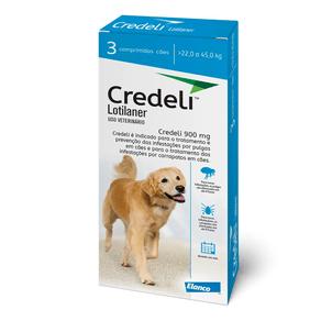 Credeli 900mg- para Cães de 22 a 45Kg Caixa com 3 comprimidos